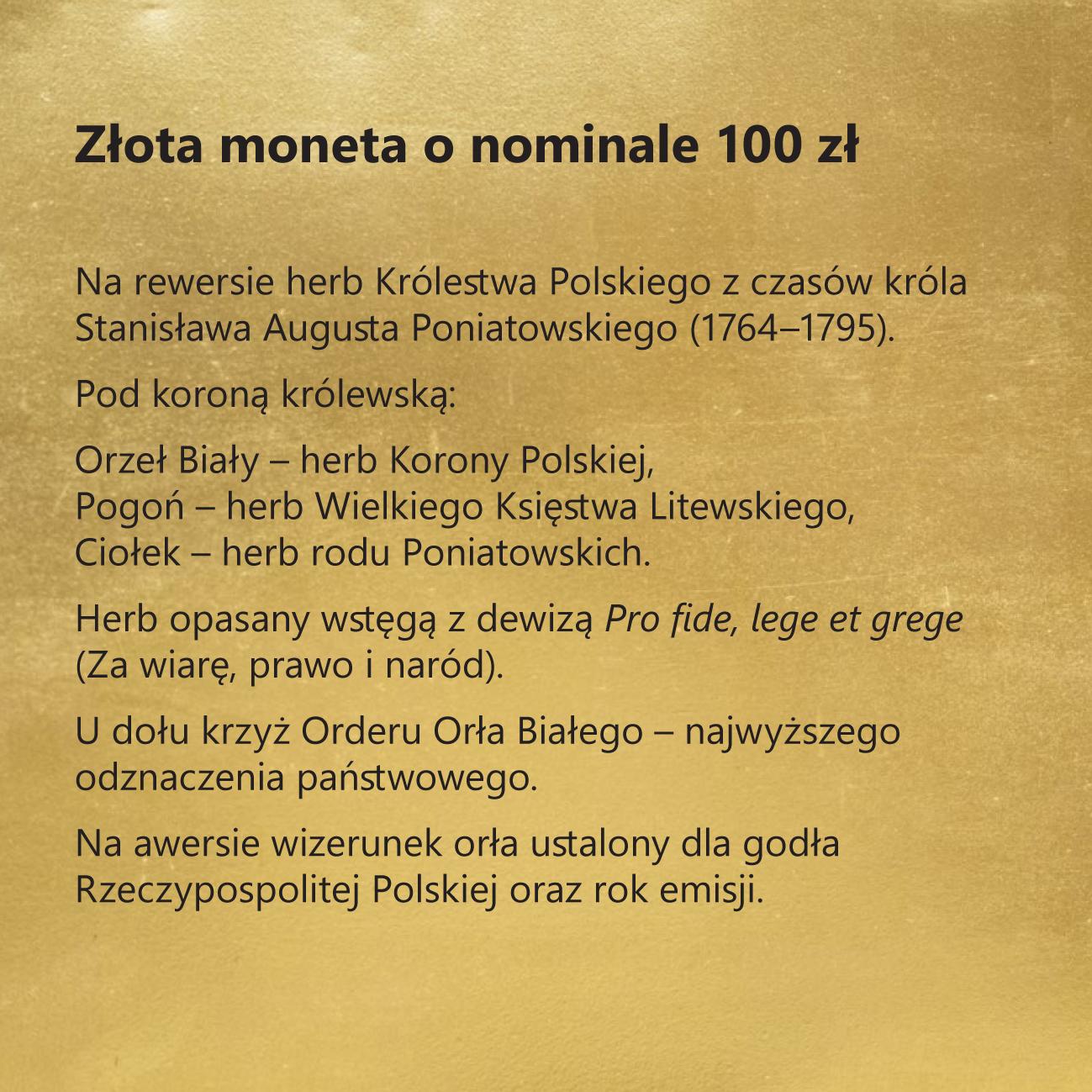 230. rocznica Konstytucji 3 Maja – dzieła odrodzonej Rzeczypospolitej , 100 zł, tabliczka