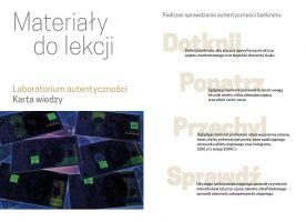 Laboratorium autentyczności - karta wiedzy