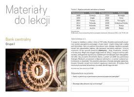 Bank centralny - materiały do lekcji